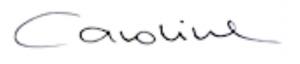 Unterschrift Caroline